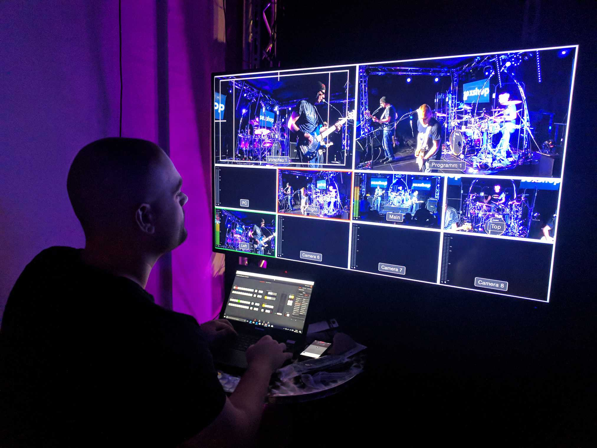 Broadcast Studio-Technik für Musikvideo und Live Streaming